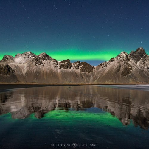 VESTRAHORN, NORTHERN LIGHTS