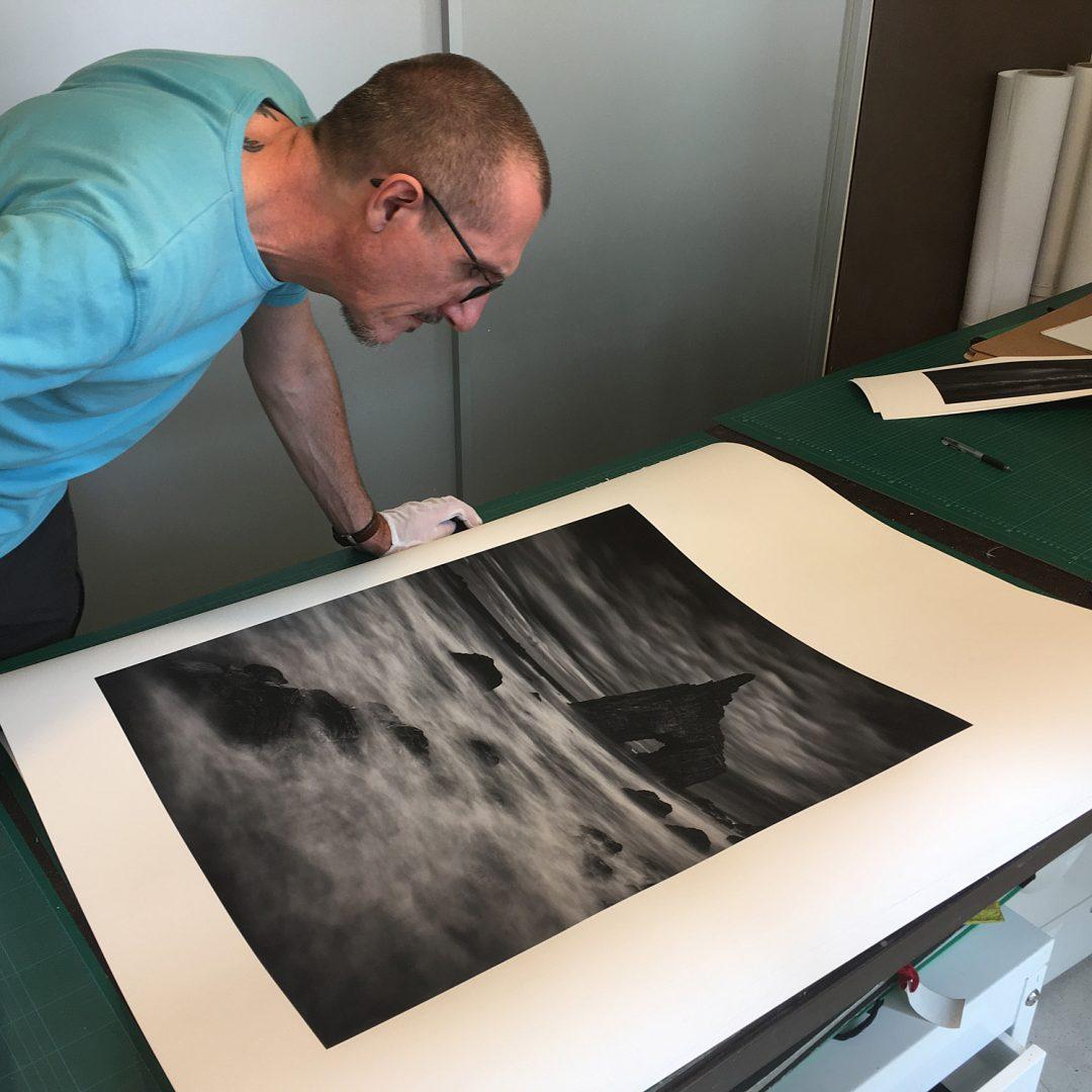 Vieri examining prints, 2017